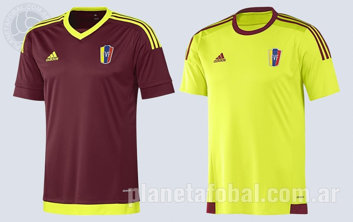 Las dos camisetas de Venezuela   Imágenes Adidas