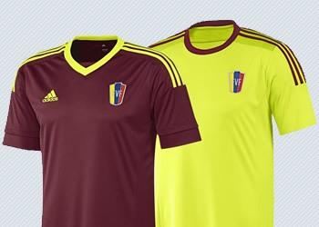 Las dos camisetas de Venezuela | Imágenes Adidas