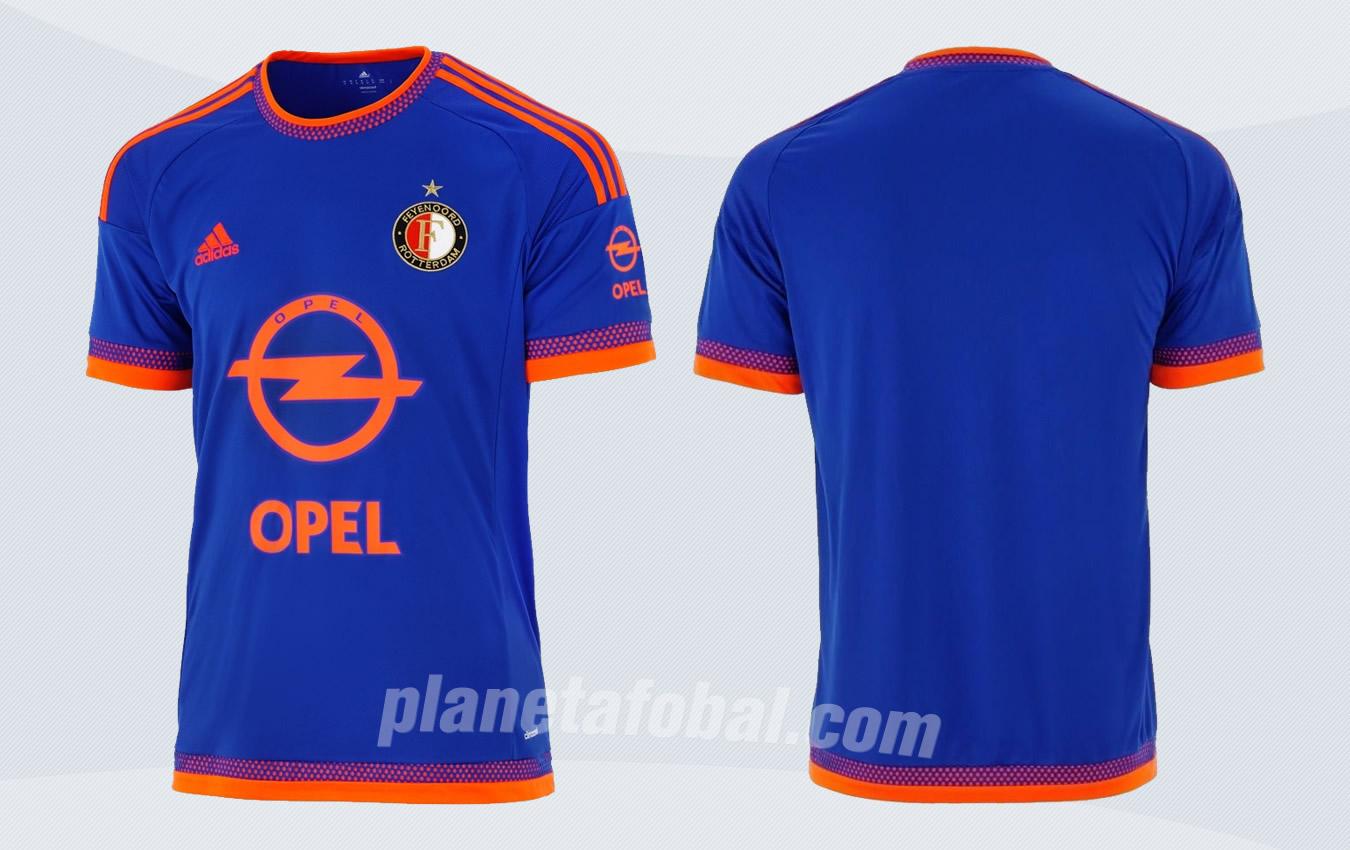 Camiseta suplente Adidas del Feyenoord para 2015/2016 | Imagenes web oficial