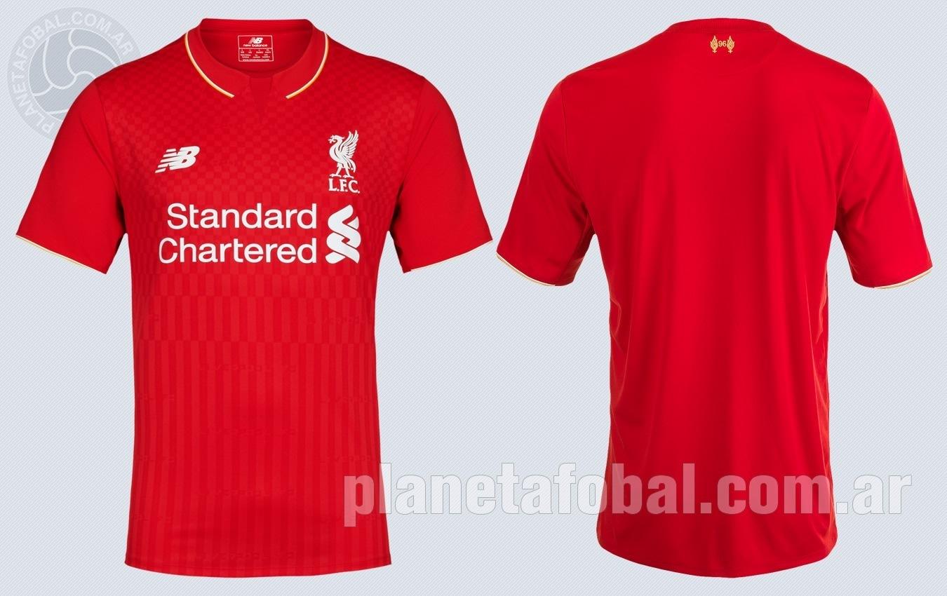 Asi luce la nueva camiset titular del Liverpool | Imágenes Web Oficial