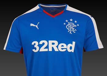 Camiseta titular del Rangers FC | Foto Web Oficial