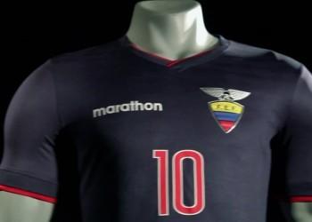 Camiseta suplente de Ecuador para la Copa América 2015   Imagen Marathon Sports