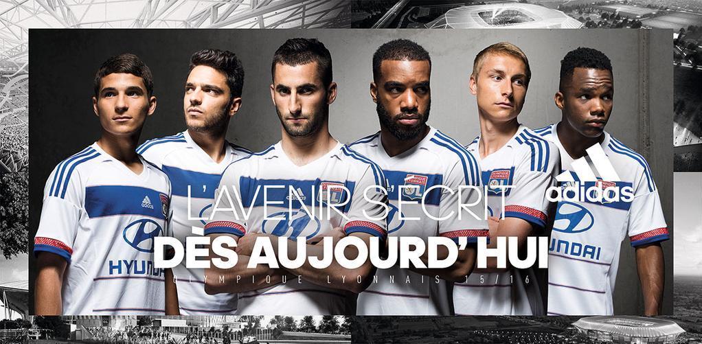 Nueva camiseta titular Adidas de Olympique Lyon | Foto web oficial