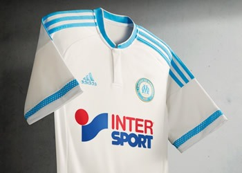 Camiseta titular de Olympique Marsella para 2015/2016 | Foto Adidas