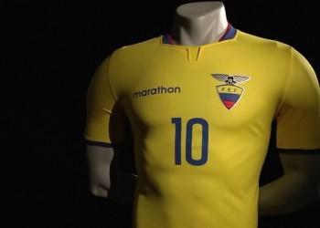 Camiseta titular de Ecuador para la Copa América 2015   Imagen Marathon Sports