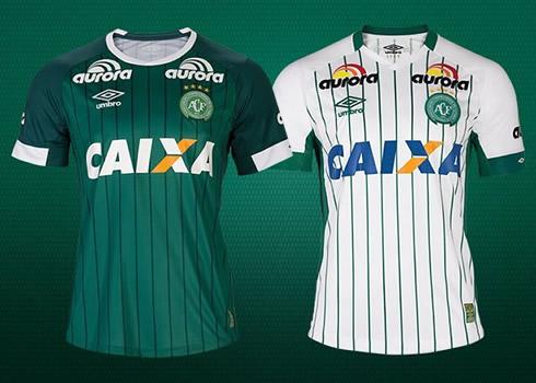 Así son las nuevas camisetas de Chapecoense | Foto Umbro