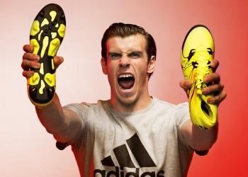 Bale con los nuevos botines X15 | Foto Adidas
