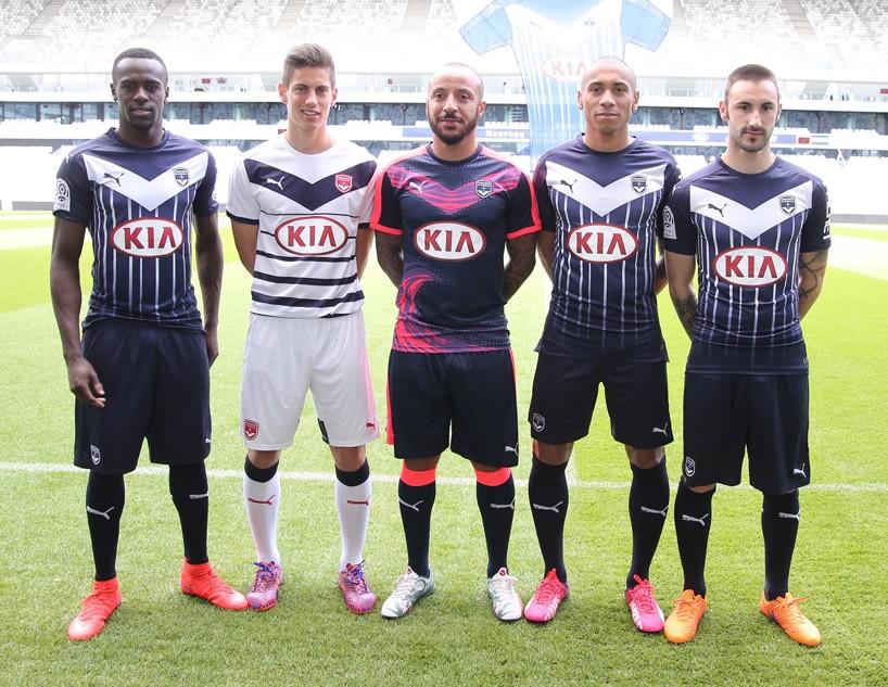 Nuevas camisetas del Bordeaux | Foto Web Oficial