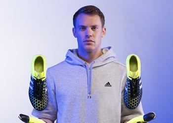 Neuer con los nuevos ACE15 | Foto Adidas