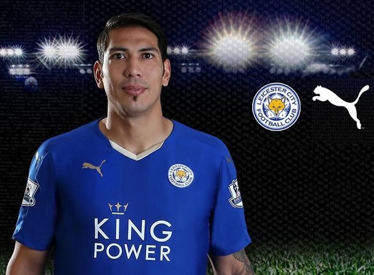 Ulloa con la nueva camiseta de Leicester City | Foto web oficial
