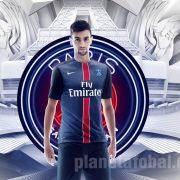Pastore con la nueva camiseta del PSG   Foto Nike