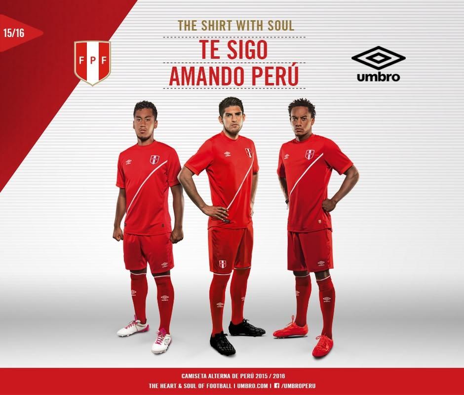 Nueva camiseta suplente de Perú | Foto Umbro