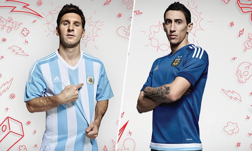 Las dos camisetas de Argentina | Imágenes Adidas