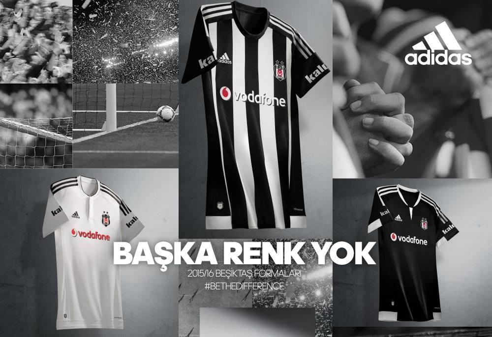 Las tres casacas del Besiktas | Foto Web Oficial