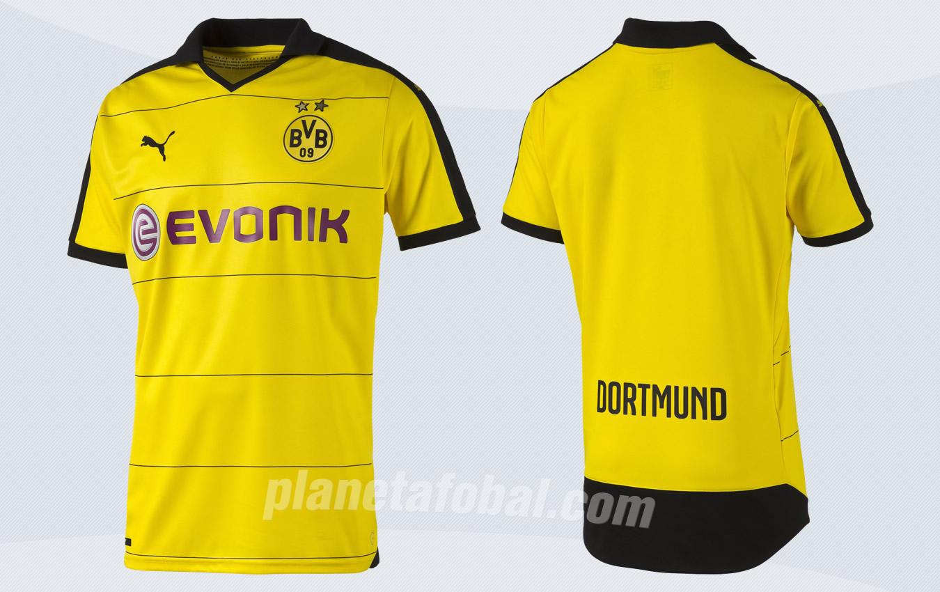Camiseta titular Puma de Borussia Dortmund para 2015/2016 | Imagenes tienda oficial