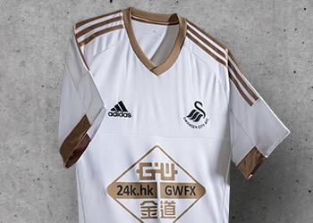 Swansea presentó su nueva camiseta titular Adidas para 2015/2016 | Foto web oficial