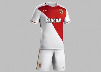 Nueva camiseta titular del AS Monaco para 2015/2016   Foto Nike