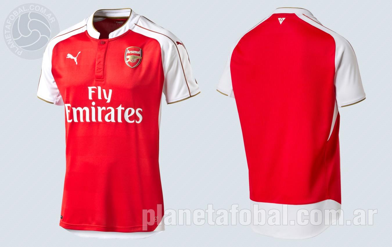 Nueva camiseta titular del Arsenal para la temporada 2015/2016   Foto Puma