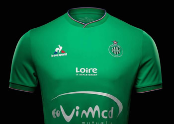 Camiseta titular del Saint-Etienne | Foto Web Oficial