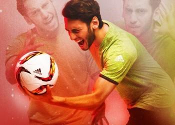 Hakan Calhanoglu con el nuevo balón | Foto Adidas