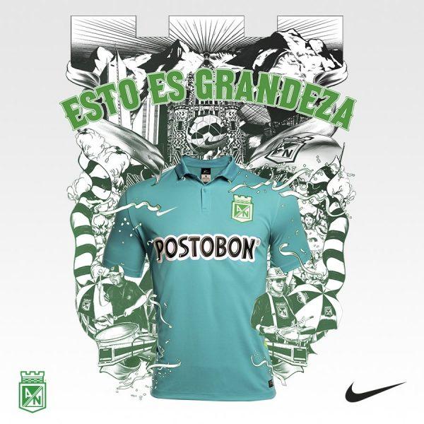 e4468014912ad Tercera camiseta Nike de Atlético Nacional 2015 16