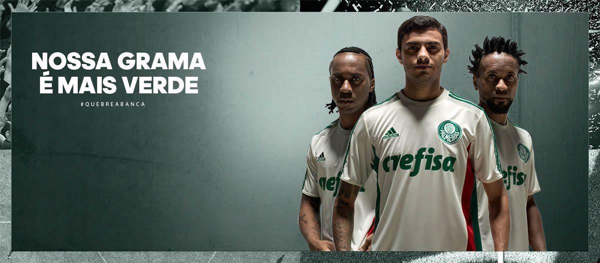 Camiseta suplente del Palmeiras para 2015/2016 | Foto Adidas