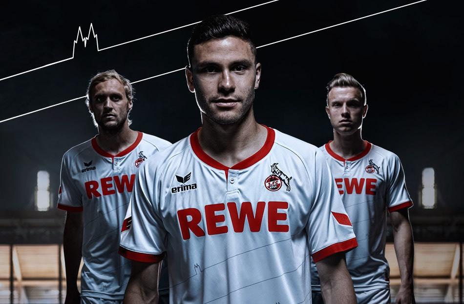 Camiseta titular Erima del FC Köln  para 2015/2016 | Foto web oficial