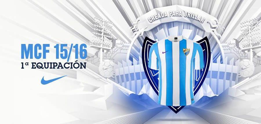 Nueva camiseta titular Nike del Málaga para 2015/2016 | Foto web oficial