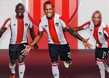 Nueva camiseta titular Junior de Barranquilla para 2015/2016 | Foto Umbro