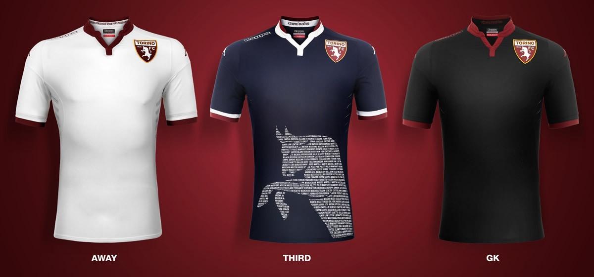 Camisetas alternativas y de arquero Kappa del Torino | Foto web oficial