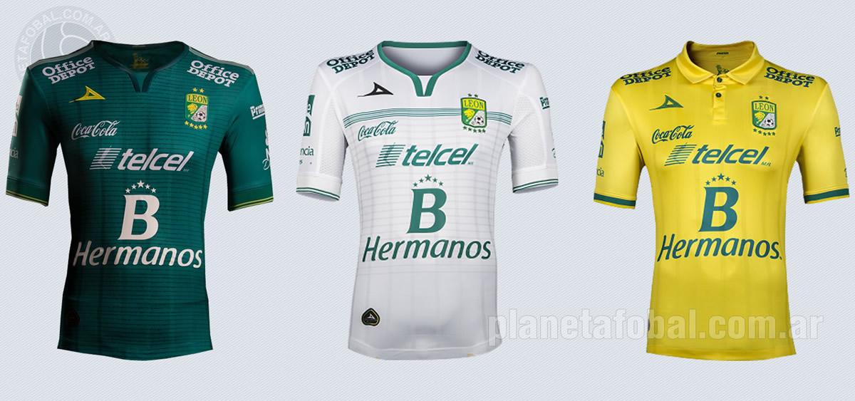 Nuevas camisetas del Club León | Imágenes Pirma