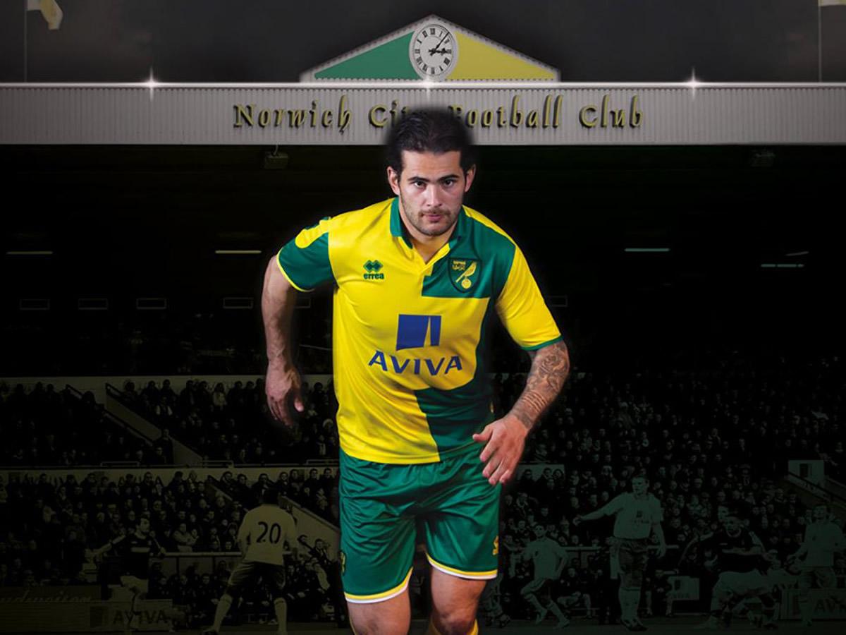 Nueva camiseta del Norwich City | Foto Web Oficial