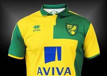 Nueva camiseta del Norwich City | Foto Errea