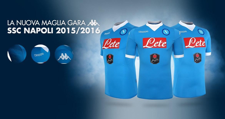 Camiseta titular Kappa del Napoli 2015/2016 | Foto web oficial