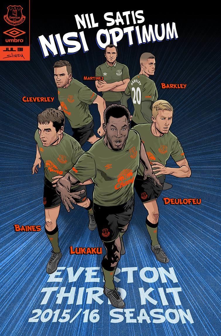 Ilustración de los jugadores creada por el artista de Marvel Will Sliney | Foto web Everton