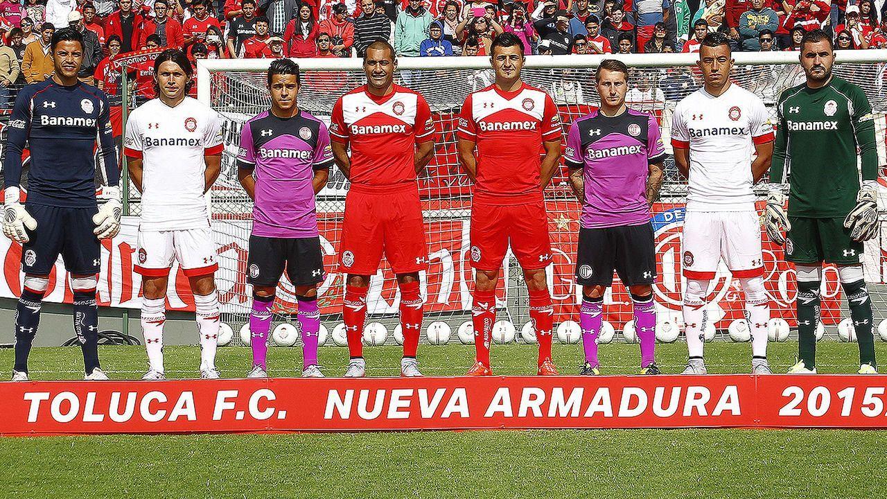 Toluca presentó sus casacas | Foto Web Oficial