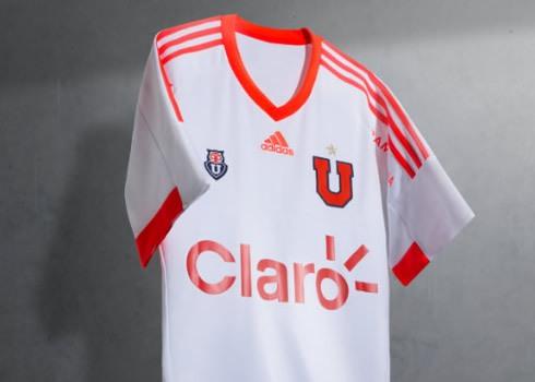 Camiseta suplente de la U de Chile para 2015 y 2016 | Foto Adidas