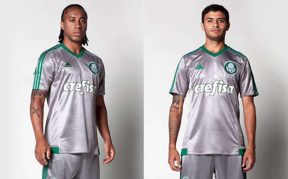 Camiseta plateada del Palmeiras para 2015/2016 | Foto Adidas