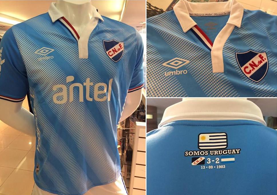 La nueva camiseta celeste de Nacional | Foto Twitter Oficial