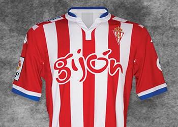 Camiseta titular del Gijón | Foto Web Oficial