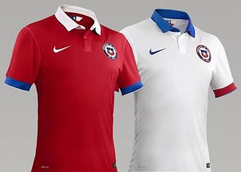 Nuevas camiseta de Chile | Foto La Tercera