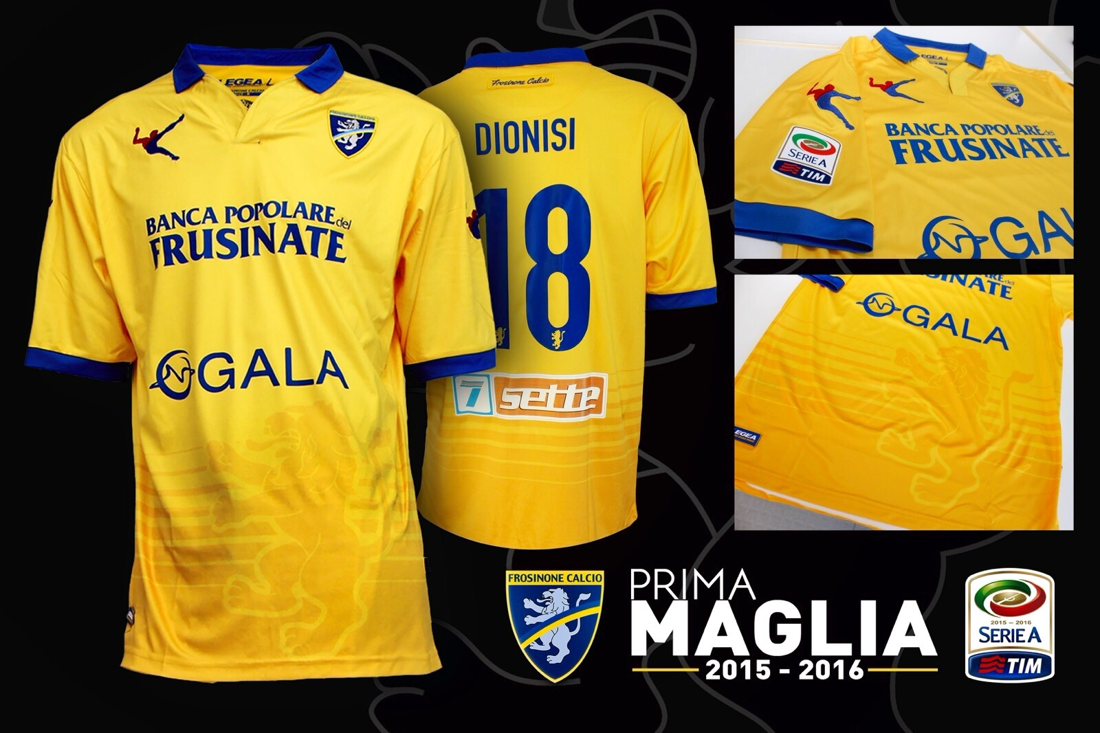Camiseta titular del Frosinone   Foto Web Oficial