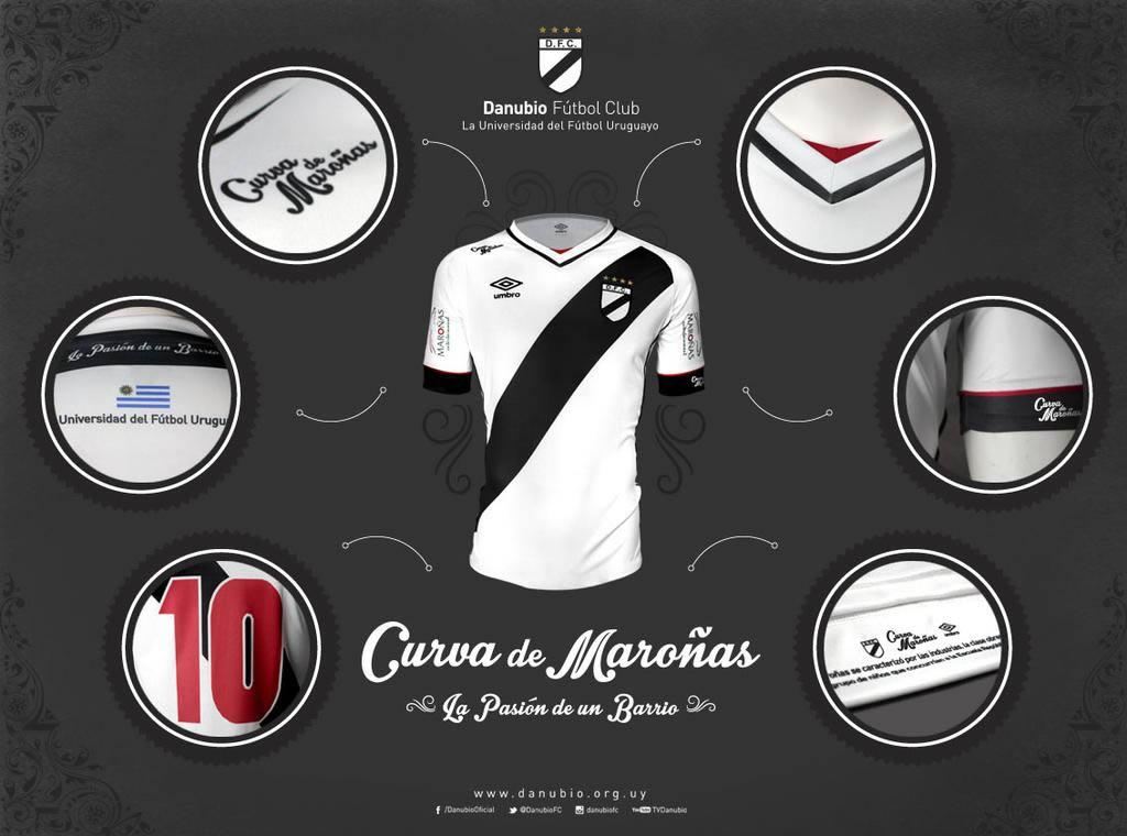 Camiseta titular de Danubio para 2015/2016 | Foto Umbro