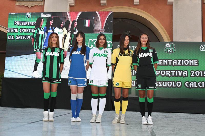 Camisetas del Sassuolo | Foto Web Oficial