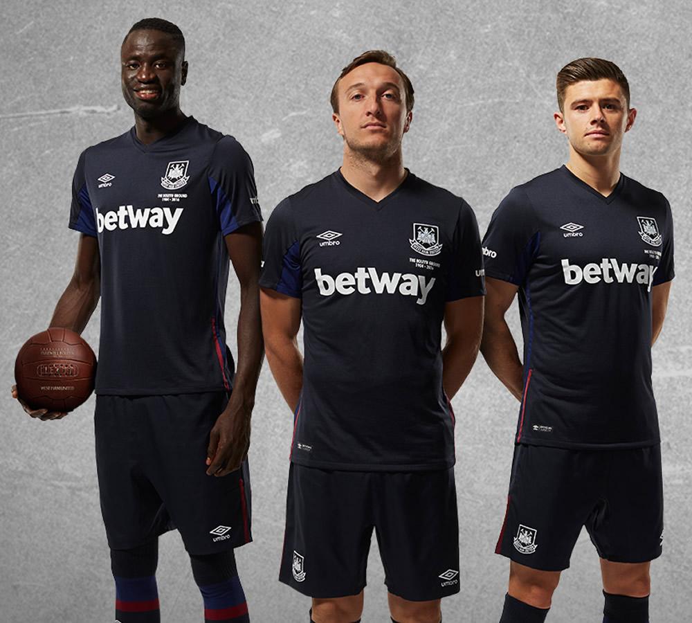 Tercera camiseta Umbro del West Ham para 2015/2016 | Foto web oficial
