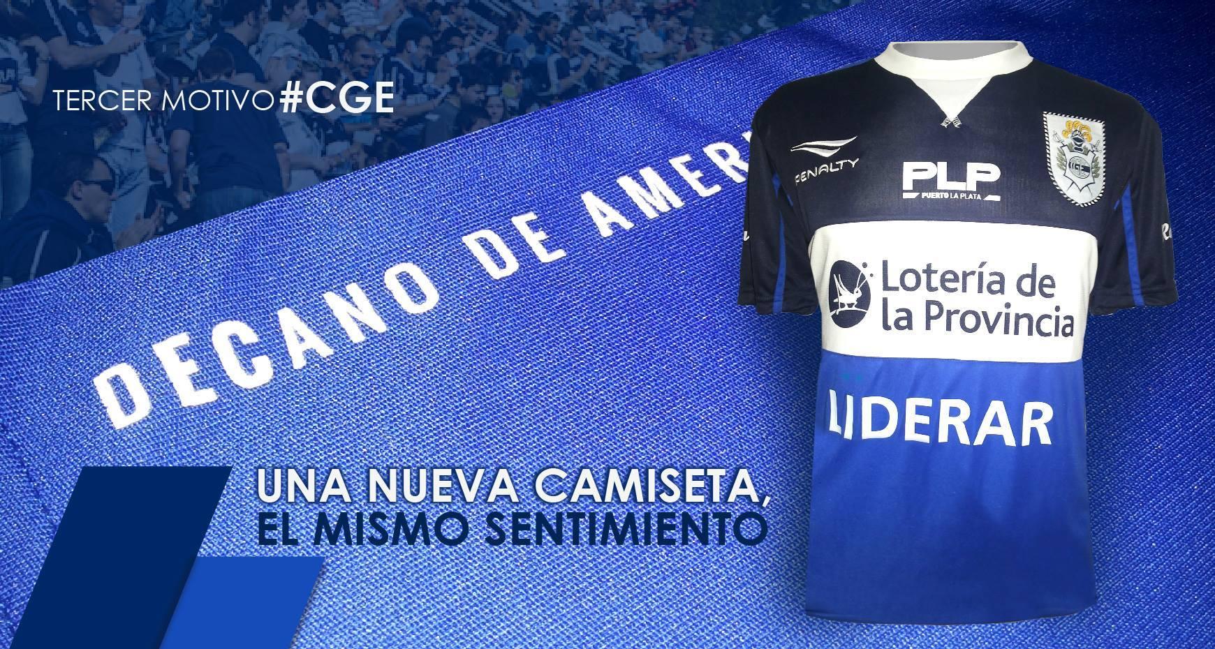 Tercera camiseta Penalty de Gimnasia | Foto Facebook GELP