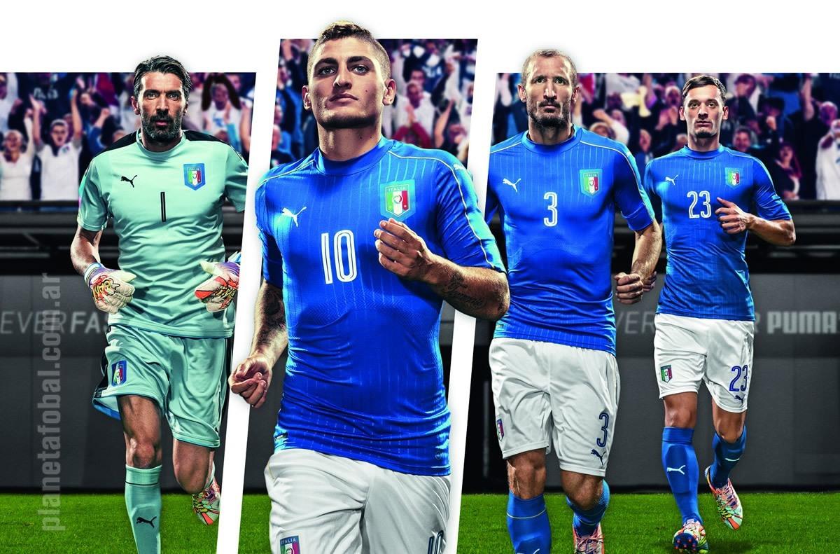 Nueva camiseta titular de Italia | Foto Puma