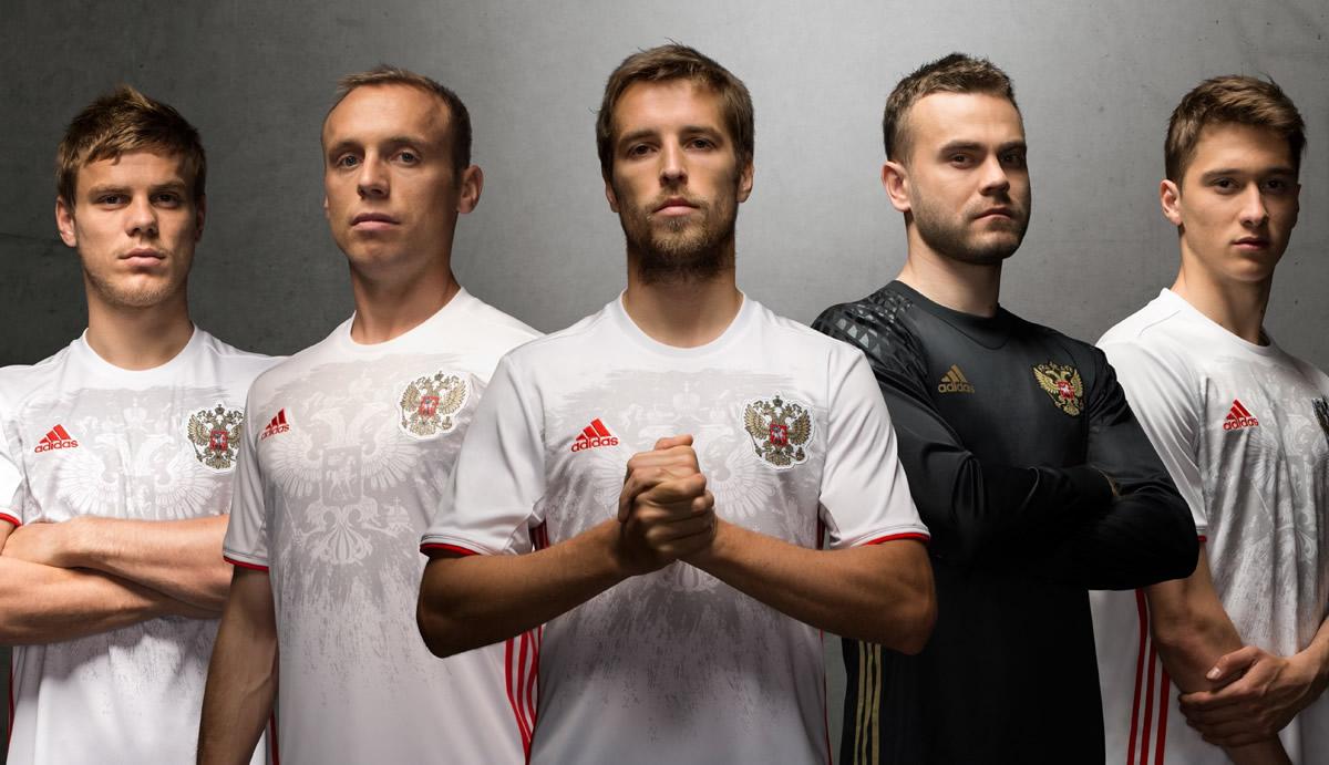 Camiseta suplente de Rusia   Foto Adidas