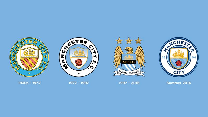 La evolucion del escudo del City   Foto Web Oficial