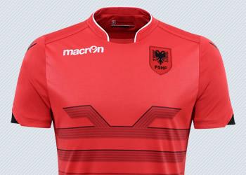 Camiseta titular de Albania | Imágenes Macron